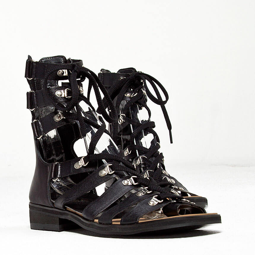 NewStylish Mens Fashion Shoes Lace-up Modern Gladiator Sandals