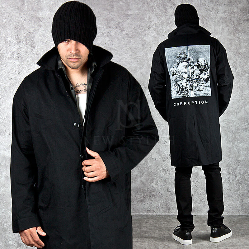 b4cd311ea8 ★SOLD-OUT★ Paint printed back accent cotton coat - 101