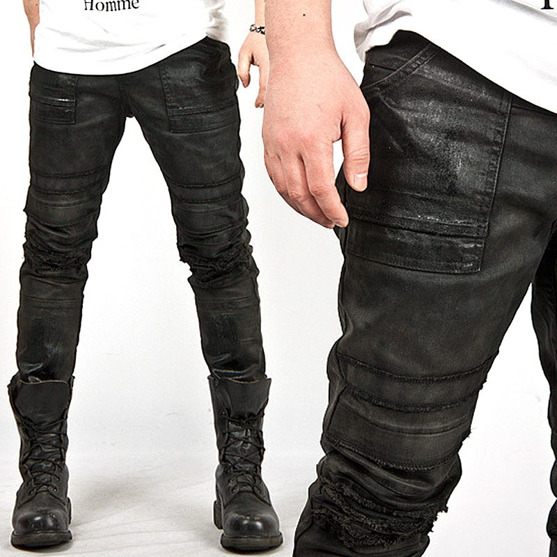 Wax Coated Mens Jeans