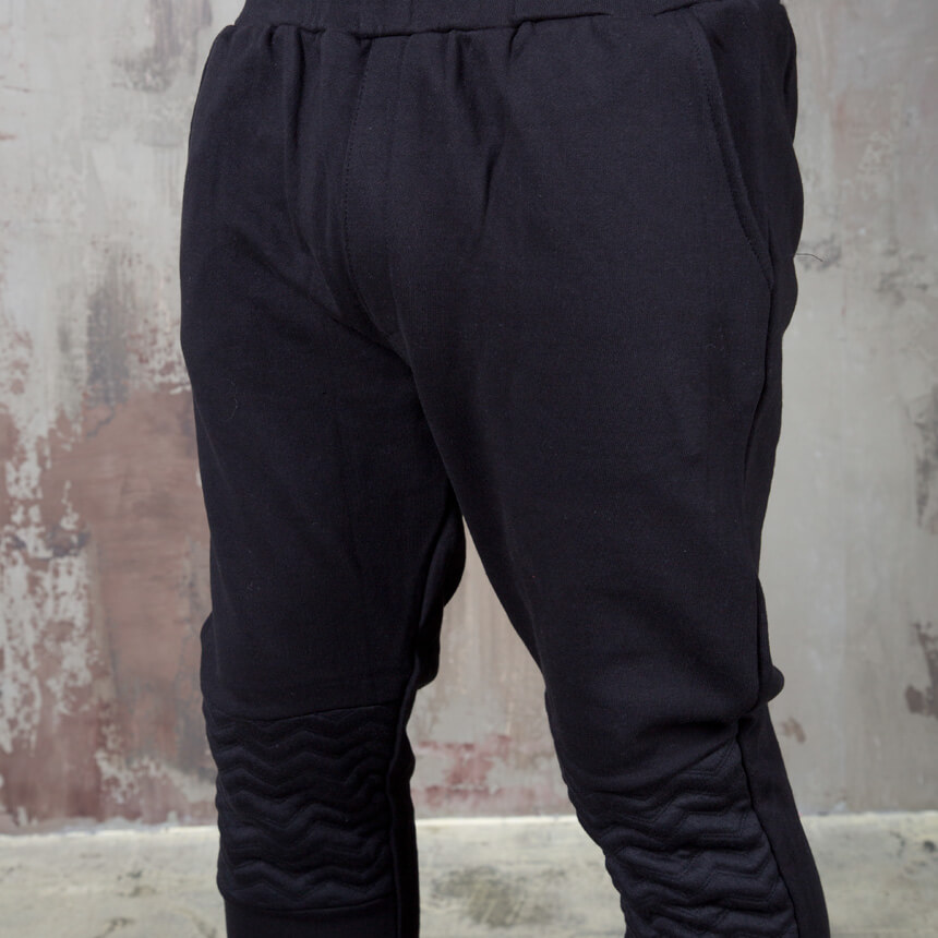 Bottoms ★sold Out★ Wave Pattern Contrast Knee Sweatpants