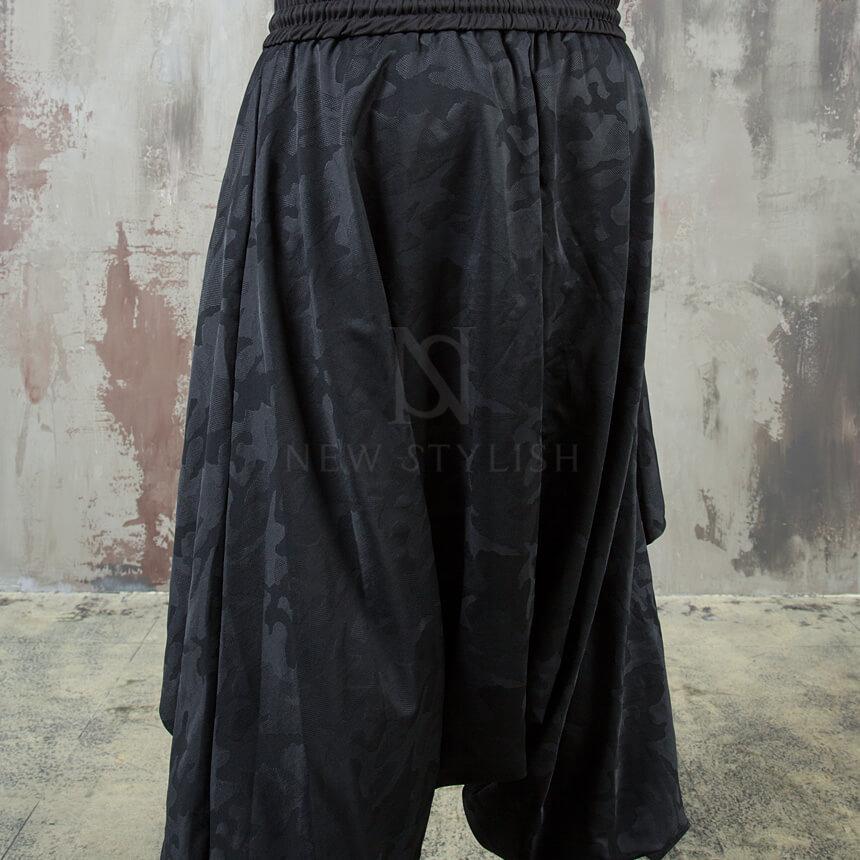 NewStylish Mens Casual Fashion Camouflage Wrap Skirt Harem Baggy Banding Pants