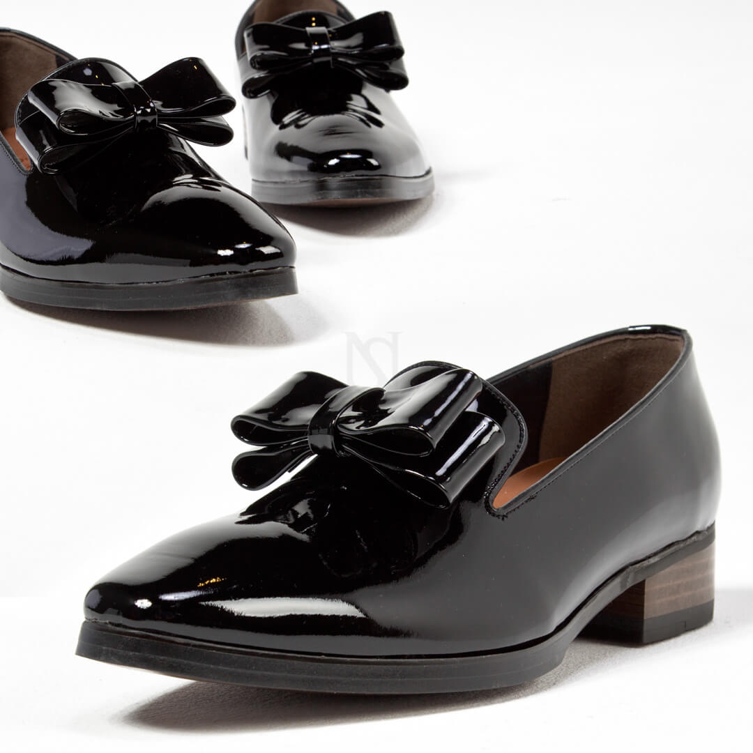 803a88d57fb3 Shoes - Glossy black ribbon shoes - 456 for only 194.00 !!!
