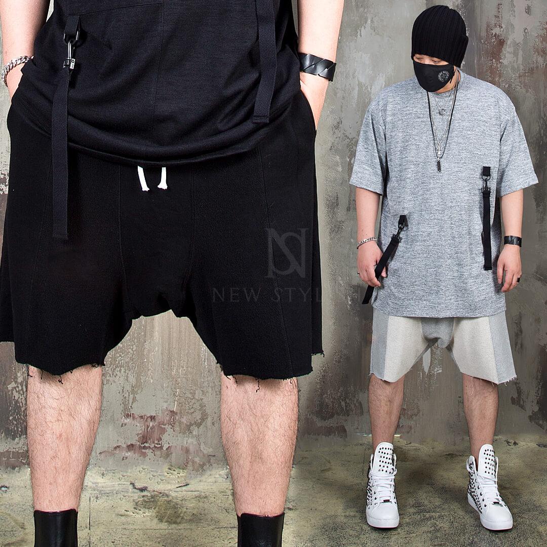 distressed sweat shorts
