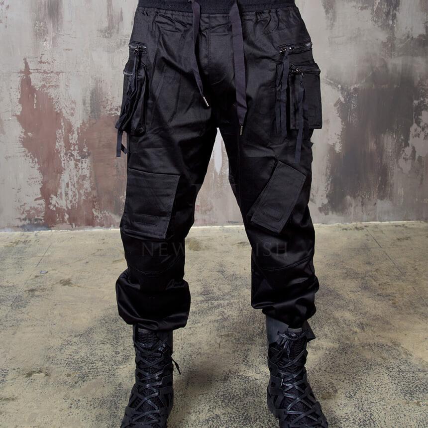 Bottoms Double Zippered Techwear Cargo Banded Pants