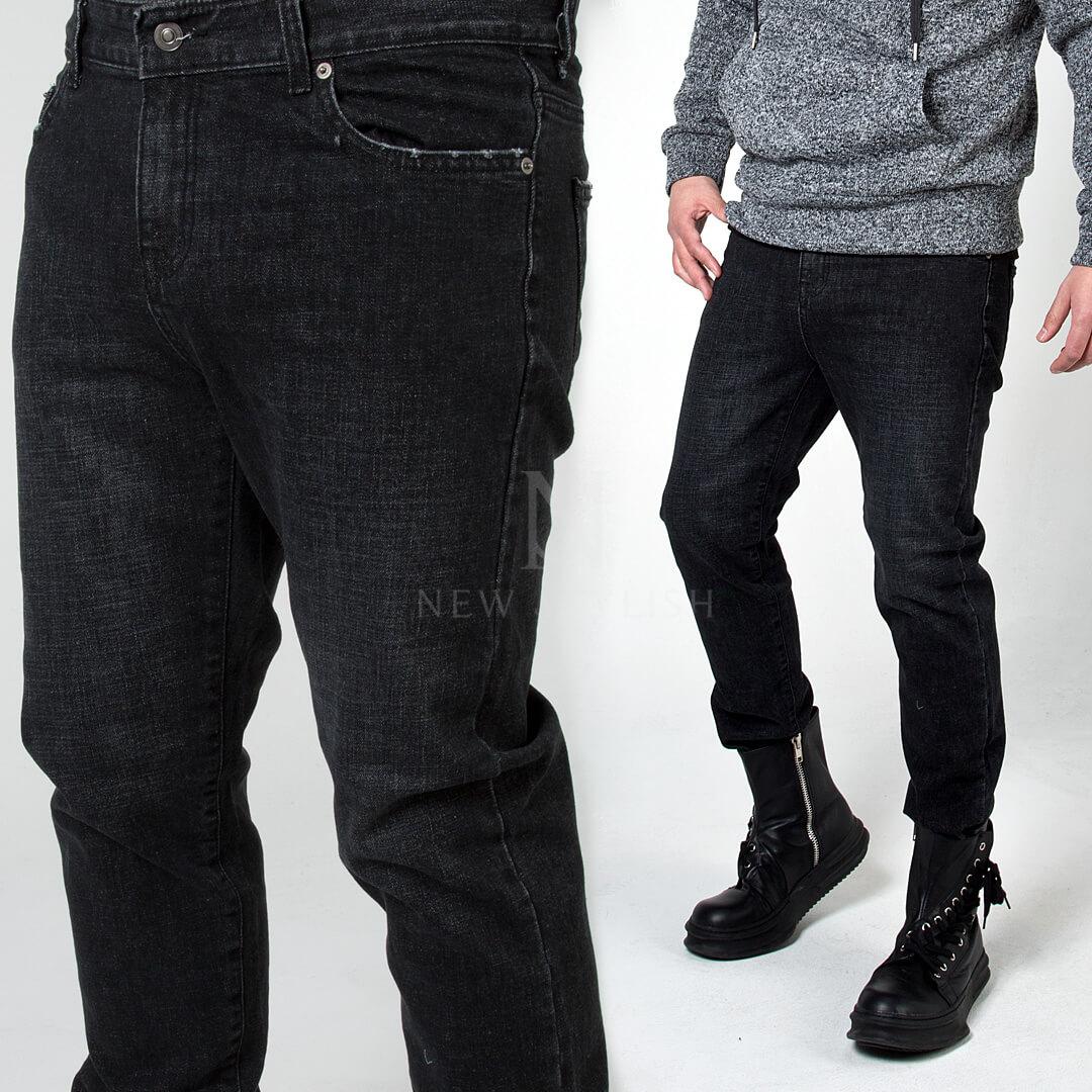 72656f2608 Black Denim Jeans Party Wear Plain Jeans