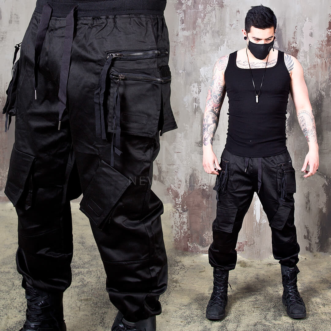 5c61e4aa7eb Bottoms - Double zippered techwear cargo banded pants - 300 for only ...