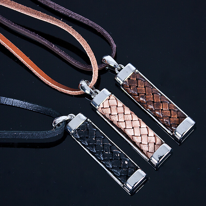 Accessories Leather Bar Charm Necklace 46 For Only
