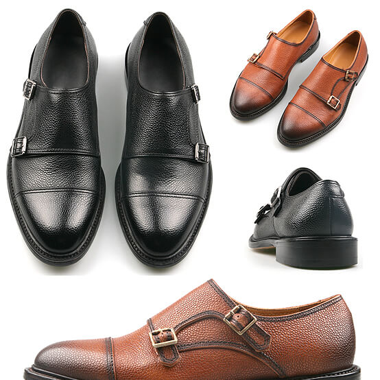 Double monk strap straight tip dress