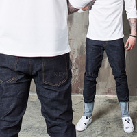 flip able basic slim jeans