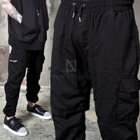 cargo pocket black sweatpants