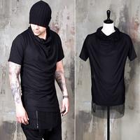 mesh layered slim turtle shirts
