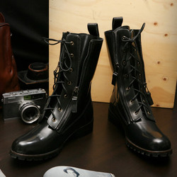 Runway Design Zippered Raven Boots Shoes