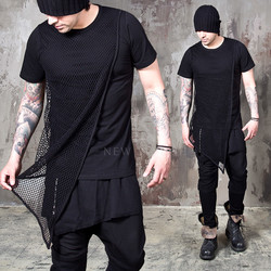 mesh layered slim t shirts