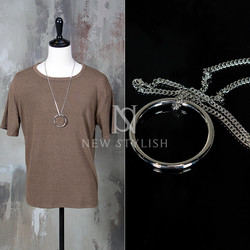 circle metal chain necklace