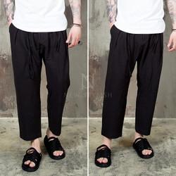 linen pleated baggy pants