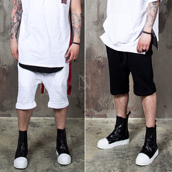 Thick strap accent O-ring sweat shorts