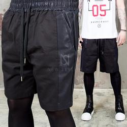 black banding sweat shorts