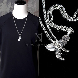 Vintage Inspired Pendant Chain Necklace