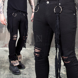 distressed black slim jeans