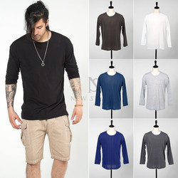Basic cotton long sleeves t-shirts