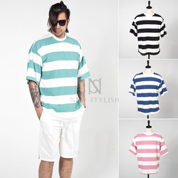 big stripe cotton t-shirts