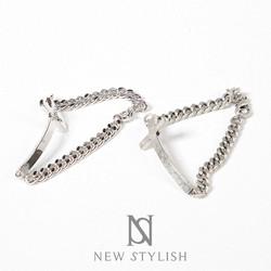 Sideways curved cross bracelet