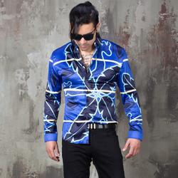 Yakuza vibe giraffe printed silky shirts