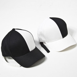 Black and white contrast ball cap