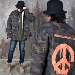 Camouflage loose jacket shirts