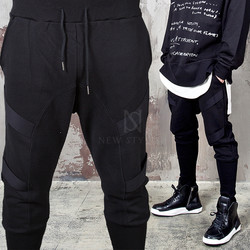 Webbing tape banding hem sweatpants