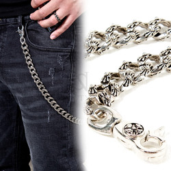 Antique metal thick wallet chain