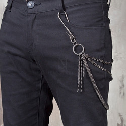 Metal hook 3 line wallet chain