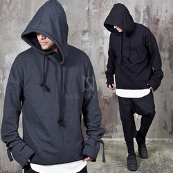 Extra long sleeves big hoodie