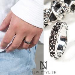 Vintage Floral Pattern Silvertone Ring