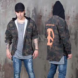 Hooded camouflage shirts