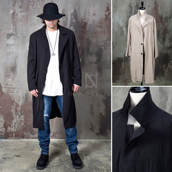 Straight 2 button flutter coat