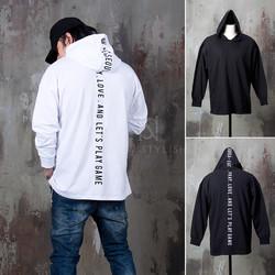 Lettering back hoodie