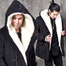 Rabbit fur field jacket