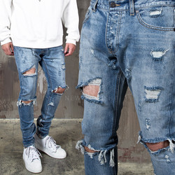 Extra distressed ripped skinny jeans