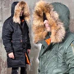Premium racoon fur duck down padded parka