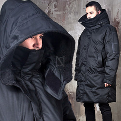 Wired Hood duck down padded long parka