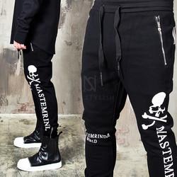 Big Skull lettering printed jogger pants