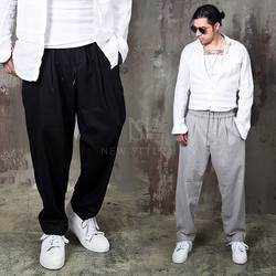Loose fit wool pants