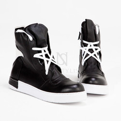Star laced high tongue high-top sneakers
