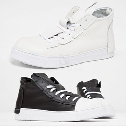 Covered lace-up sneakers