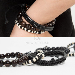 Simple beads set bracelet