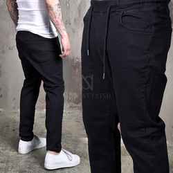 Simple denim bending jeans
