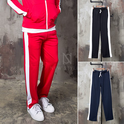 Side long striped sweatpants
