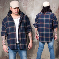 Classic checkered loose shirts