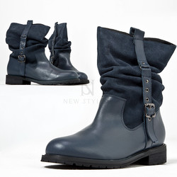 Side belted contast loose boots